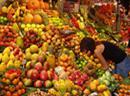 Obstmarkt in Barcelona.