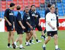 Inters Edgar Davids beim Training im St.Jakob-Park.