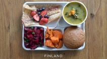 Das Mensa-Menü aus Finnland.