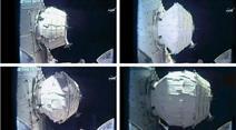 Sieben Stunden lang pumpte Astronaut Jeff Williams das Modul «Beam» in kleinen Schüben auf, bis es am Samstag um 16.00 Uhr (22.00 Uhr MESZ) ganz entfaltet war.