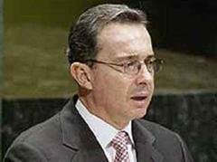 Der kolumbianische Präsident Alvaro Uribe.