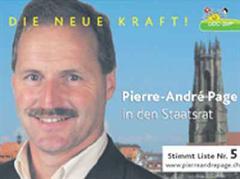 Pierre-André Page (SVP) rechnet sich noch Chancen auf einen Sitz aus.