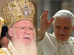 Papst Benedikt XVI. und Patriarch Bartholomäus I.