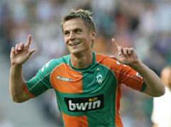 Jubel bei Bremens Markus Rosenberg nach dem 0:1.