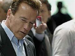 Arnold Schwarzenegger am Mittwoch am Salon.