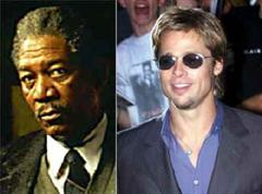 Morgan Freeman und Brad Pitt.