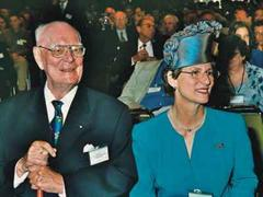 Graf Lennart Bernadotte feierte mit seiner Frau.
