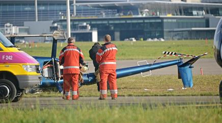 Die Flughafen Zürich AG bestätigte den Unfall.
