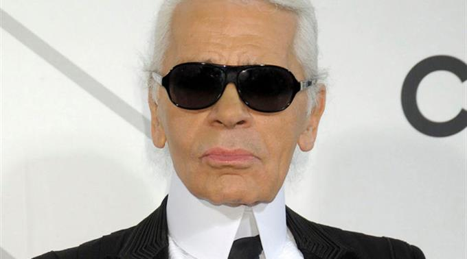 Modeschöpfer Karl Lagerfeld.