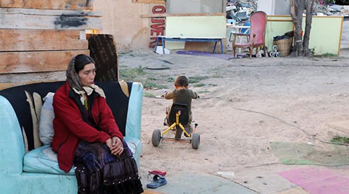 Ein Roma-Lager (Symbolbild)
