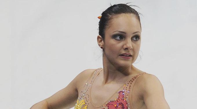 Sarah Meier auf dem Eis: Die Europameisterin nimmt am Super10Kampf teil.