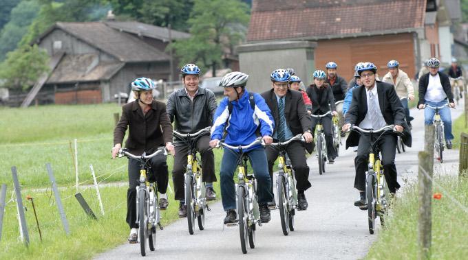 Der Energy-Trail auf Elektrovelos in Erstfeld.