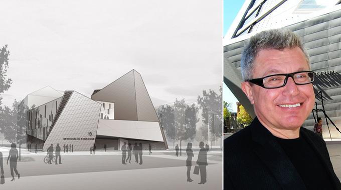Illustration der geplanten Libeskind-Synagoge in München.