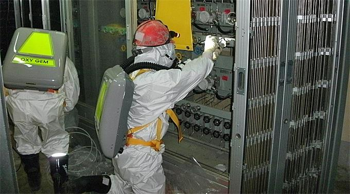 Arbeiten im AKW Fukushima.