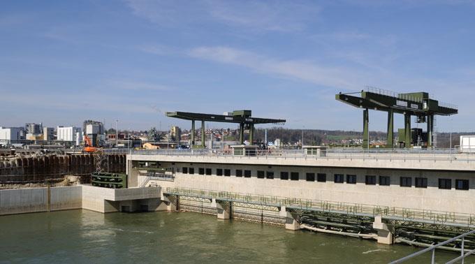 Wasserkraftwerk in Rheinfelden.