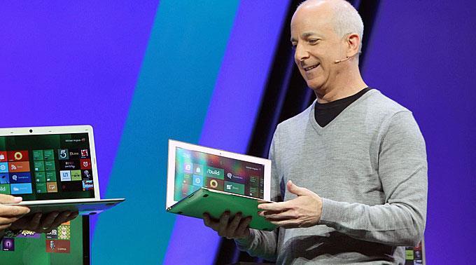 Steven Sinofsky stellt Microsoft Windows 8 vor. (Archivbild)