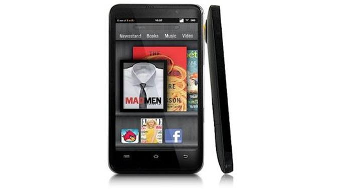 Fotomontage: Amazon soll am Kindle Phone arbeiten.