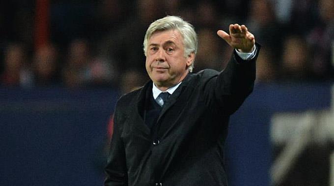 Paris Saint Germains Trainer Carlo Ancelotti.