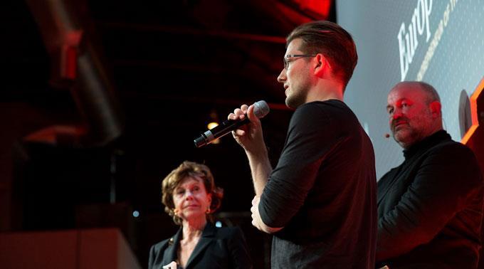 Alexander Ljung bei der Europioneer-Awards-Verleihung.