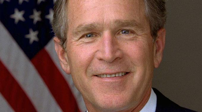 George W. Bush hilft seinem Bruder.