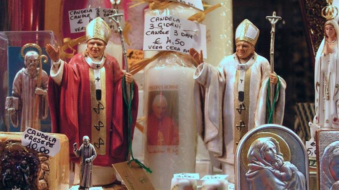 Kitschverkäufer sind dem Vatikan unendlich dankbar...