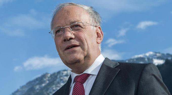 Bundespräsident Johann Schneider-Ammann wohnte einer festlichen Museumseinweihung in Colmar (F) mit dem französischen Präsidenten François Hollande bei. (Archivbild)