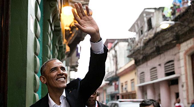 Präsident Barack Obama ist in Kuba angekommen.